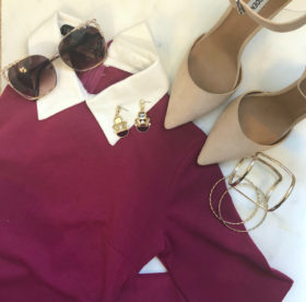 pictured: Shop The Look – Collared Midi Dress