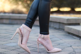 pictured: Shop The Look – Nude Pumps
