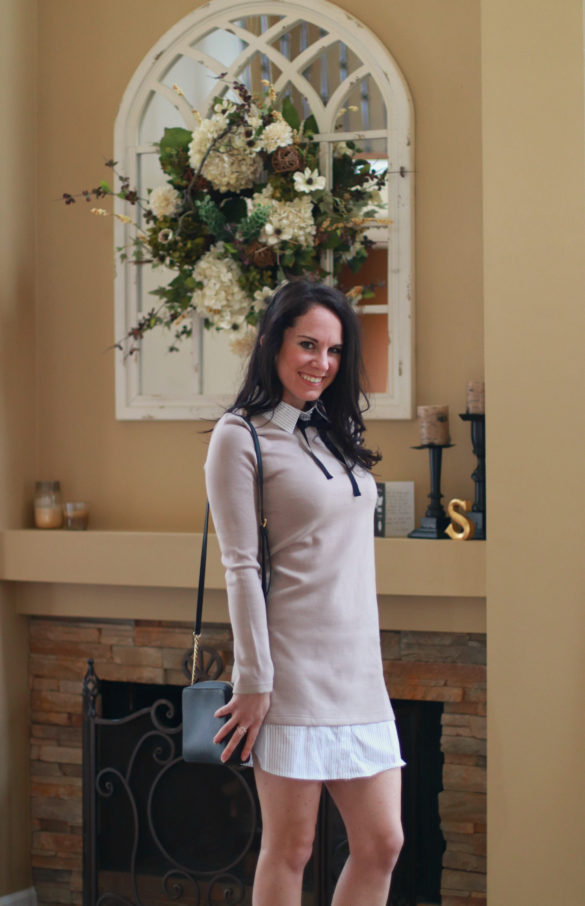 pictured: Shop The Look – Shirt Dress w Knit Layer