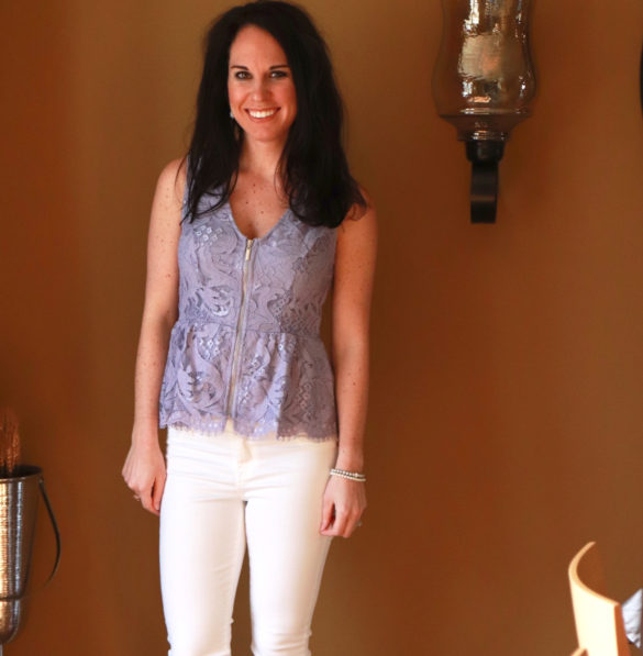 pictured: Shop The Look – Sleeveless Lace Top