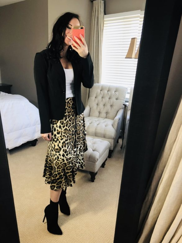 pictured: Shop The Look – Leopard Midi Skirt